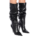 Kiki 100 Leather Knee-High Boots | Saint Laurent - Mytheresa