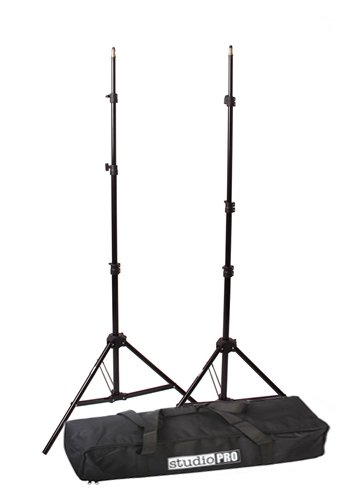 Fovitec StudioPRO – 2x 7'6″ Classic Light Stand Kit – [Classic][For Photo and Video][Includes Carrying Bag]