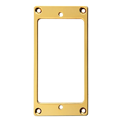 Gold Humbucker (Kmise Z4520 1 Piece Flat Metal Humbucker Pickup Mounting Ring, Gold)