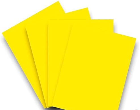 20 Blatt Qualitätspapier / Farbpapier / Kopierpapier A4 CARNARYGELB 80g/qm Coloraction
