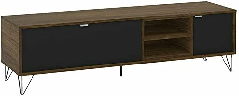 """Engineered Wood TV Stand for TVs upto 65"""" in Brown/Black Tv stand Farmhouse decor Tv mount Television stands Tv stands Tv table Apartment essentials Living room furniture Tv & media furniture Tv stand"""