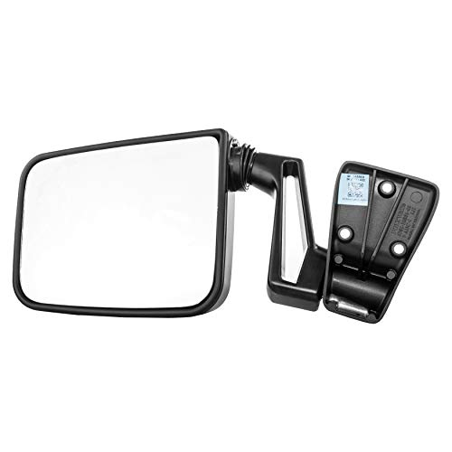 Left Mirror Arm - Driver Side Mirror for Jeep Wrangler (1987 1988 1989 1990 1991 1992 1993 1994 1995) Black Non-Heated Folding Left Outside Rear View Replacement Door Mirror Arm Included - Part Link #: CH1320102