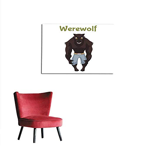homehot Wall Paper Scary Werewolf Halloween Costume idea Mural 36