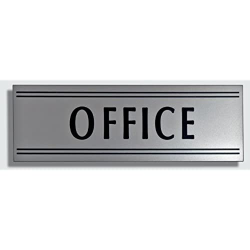 Superbe JP Signs   Office Sign   9 X 3 Inch (Silver / Black) Engraved Premium  Design Office Signage Essentials   Communicates Professionalism   Ideal For  Large Or ...