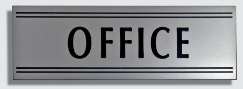 amazon com jp signs office sign 9 x 3 inch silver black