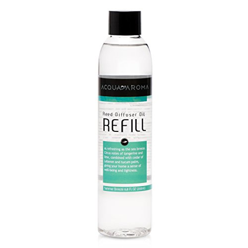 Acqua Aroma Summer Breeze Reed Diffuser Oil Refill 6.8 FL OZ (200ml) Contains Essencial Oils by Acqua Aroma