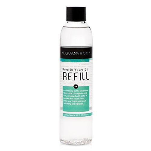 Acqua Aroma Summer Breeze Reed Diffuser Oil Refill 6.8 FL OZ (200ml) Contains Essencial Oils
