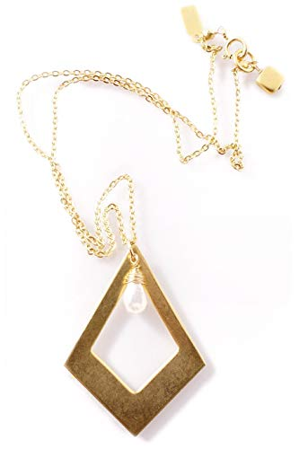 Clasp Geometrical Pearl - BY THE STONES GEO Gold Geometrical Pendant