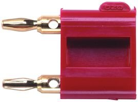 POMONA 2035-2 DOUBLE BANANA PLUG, 5A, SOLDER, RED