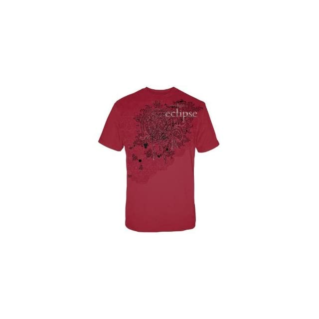 the twilight saga Eclipse Wolf Pack Tattoo with Swirls T Shirt Red