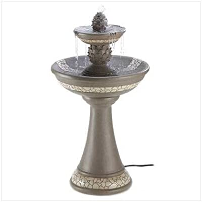Mosaic Courtyard Garden Faux Granite Finish Fountain