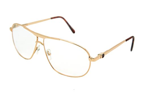 (ColorViper Vantage Classic Aviator Metal Reading Glasses (Gold / Clear reading glasses RJ8026, +1.75))