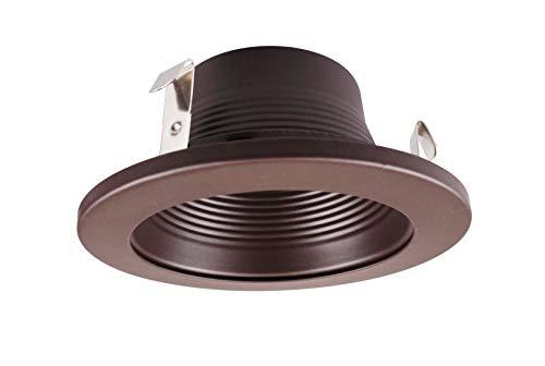 NICOR Lighting 4-Inch Recessed Baffle Trim, Oil-Rubbed Bronze (19501OB-OB)