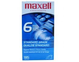 Maxell T-120 6 Hours Standard Grade VHS Video Cassette Excellent Performance High Quality by Maxell
