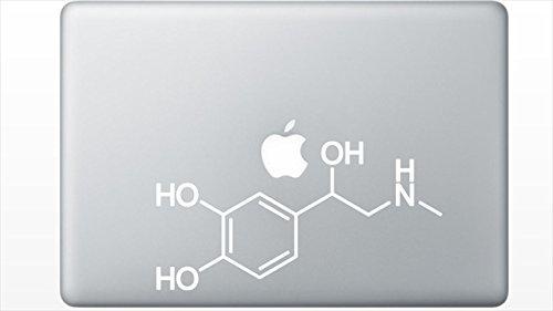 Adrenaline Molecule Structure decal sticker by Buttered Kat - Molecule Sticker