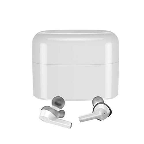 - Libison Bluetooth Headphones, True Wireless Earbuds Twin Stereo Headset Mini in-Ear Earphone Cordless Earpiece with Built-in Mic with Charging Box (White)