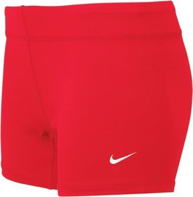 Red Spandex Shorts - Nike Performance Women's Volleyball Game Shorts (Small, Scarlet)