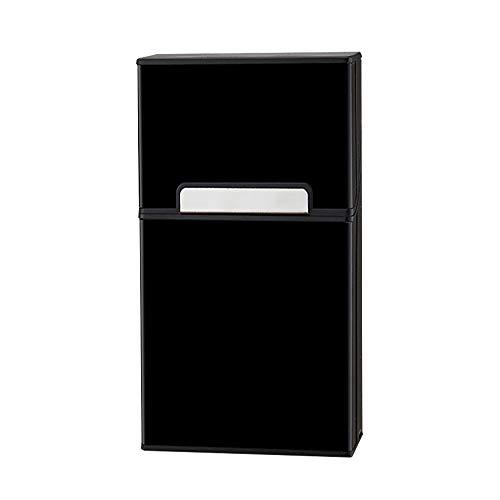 - Cigarette Case King Size Aluminium Holds 20pcs Cigarettes Hard Box Full Pack Cigarette Box for Men Women(Black 100's)