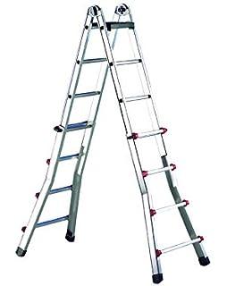 Svelt - Escalera 1 Tramo Aluminio 10 Peldaños 2,9Mt E110 Unidad: Amazon.es: Industria, empresas y ciencia