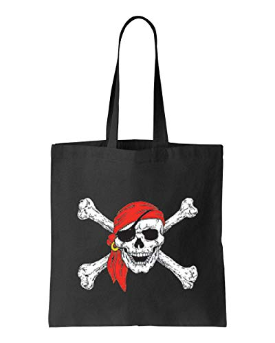 Jolly Roger Skull & Crossbones Pirate Flag Tote Handbags Bags for Work School Grocery Travel (GSB) -