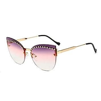 YLYZJH Gafas de Sol Transparentes Ojos de Gato, Mujeres ...