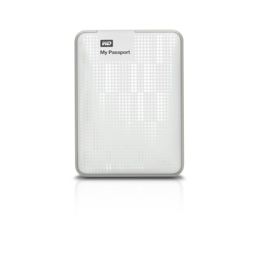 WD My Passport 500GB Portable External Hard Drive Storage USB 3.0 White (WDBKXH5000AWT-NESN)