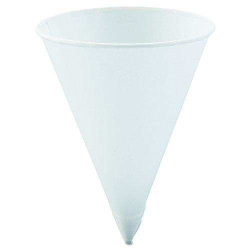 Solo 42R-2050 4.25 oz White Paper Cone Cups (Case of 5000) - 4 Ounce Cone Cups