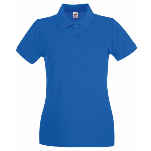 Fruit Of The Loom Lady-Fit Premium Polo Shirt M,Royal Blue