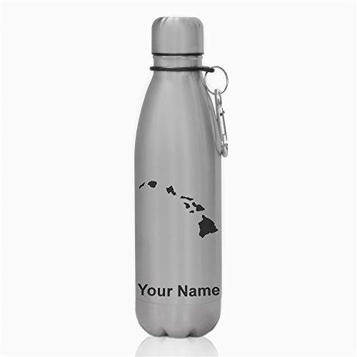 Water Bottle, Hawaiian Islands, Personalized Engraving Included