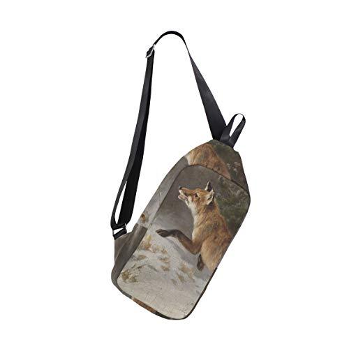 amp; Backpack Shoulder Winterwald Bags For Crossbody Im Fuchs Chest Bennigiry Women Bag One Sling Men xvORcq