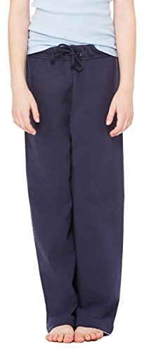 Bella Girl'S 7.5 Oz. Straight Leg Sweatpants, Navy, - Sweatpants Leg Straight Bella