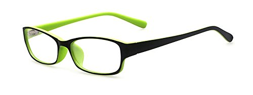 Outray Kids Retro Rectangle Clear Lens Glasses for Boys Girls Green