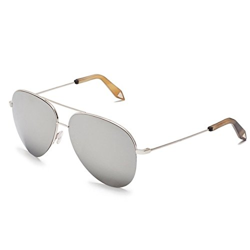 Victoria Beckham VBS90 Classic Aviator Sunglasses C07 Silver / Platinum - Victoria Beckham Sunglasses Mirror