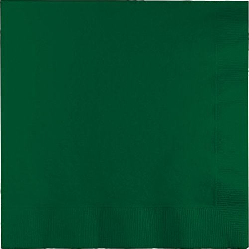 Club Pack of 600 Hunter Green Premium 2-Ply Disposable Lunch Napkins 6.5'' by Party Central