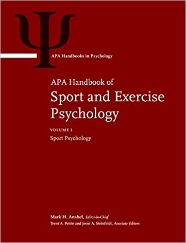 Book jacket for APA Handbook of Sport and Exercise Psychology