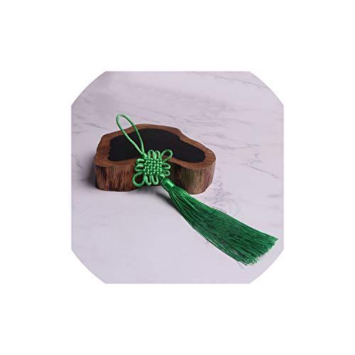 10Pc Chinese Knots Tassel DIY Pendant Pendant Jewelry Garment Decorative Accessories Car Key Bag Pendant DIY Craft Tassel,Green Double Happiness Green Pendant