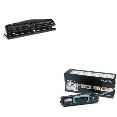 24015sa Toner - KITLEX24015SAUNV74323 - Value Kit - Lexmark 24015SA Toner (LEX24015SA) and Universal 12-Sheet Deluxe Two- and Three-Hole Adjustable Punch (UNV74323)