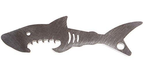 !! UNKAPUTTBAR !! Flaschenöffner Typ Hai aus Edelstahl als Schlüsselanhänger