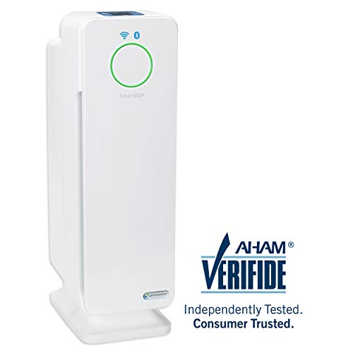 "GermGuardian CDAP4500WCA 22"" 4-in-1 WiFi Smart Air Purifier, Air Quality Monitor, Voice Control, HEPA Filter, UVC Sanitizer, Traps Allergens, Smoke, Odors, Mold, Dust,Germs, 3Yr Warranty Germ Guardian"