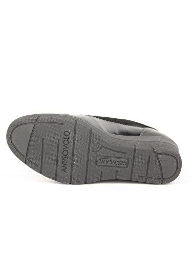 negro Piel Negro de hombre Zapatos para cordones negro de GRUNLAND HaqPznw
