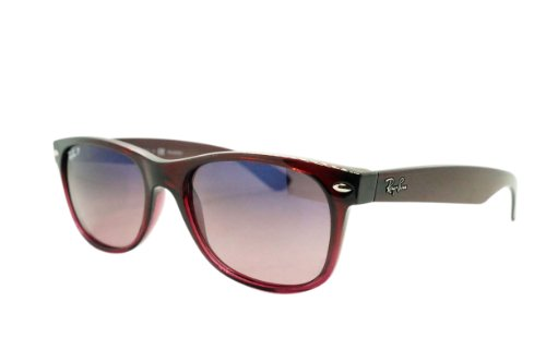 Ray-Ban NEW WAYFARER - BROWN GRADIENT ON ANTIQU Frame CRYSTAL POLAR BLUE GRAD. PINK Lenses 55mm Polarized