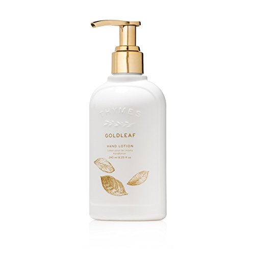 Thymes Leaf Gold - Thymes - Goldleaf Hand Lotion with Pump - With Moisturizing Shea Butter, Vitamin E, and Elegant Floral Scent - 8.25 oz