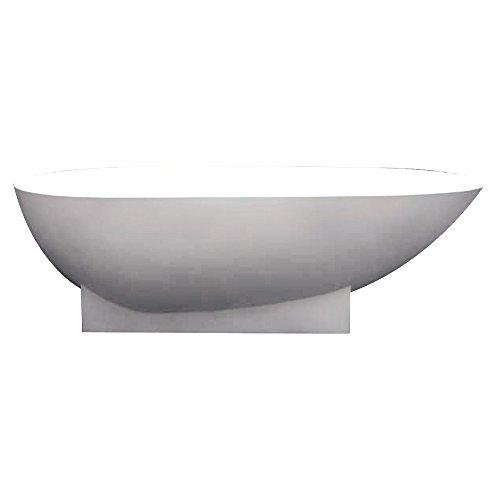 Transolid SSH7236-01 Shea Freestanding Bathtub, 72 x 36 x 20-Inch, White