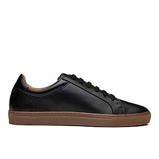 Dunross & Sons Harvey Men's Low Top Sneaker (11, Black)