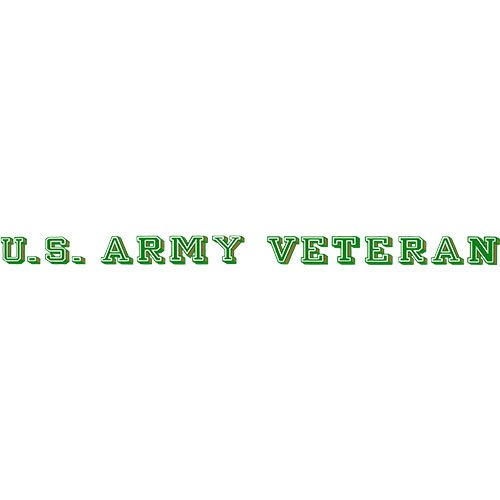 (U.S. Army Veteran Clear Window Strip)