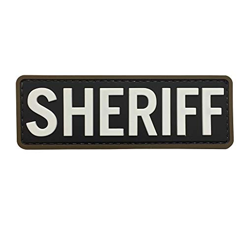 Sheriff Patch PVC Rubber Tactical Morale with Hook Fastener Backing by uuKen Tactical Gear