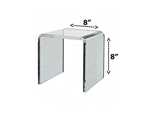 Marketing Holders Acrylic Riser - 8'' Square - Clear Acrylic by Marketing Holders