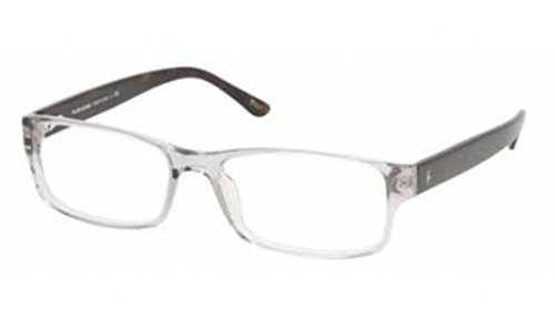 Polo PH 2065 Eyeglasses Styles - Gray Transparent Frame w/Non-Rx 54 mm Diameter - Glasses Polo Prescription