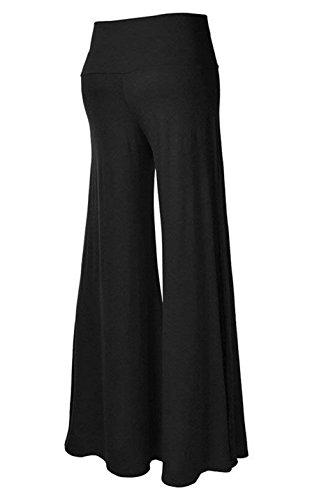 Nero Pantaloni Libero Baggy Yoga Chic Tempo Lungo Waist Palazzo Accogliente Cute Gonna Larghi Mieuid Pantalone High Eleganti Solidi Pantalone Donna Colori Pantaloni ZwRTnO1q