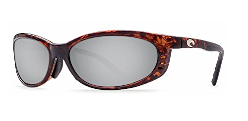 Costa Del Mar Fathom 580G Fathom, Tortoise Frame Global Fit Silver Mirror, Silver - Del Mar Fathom 580 Costa